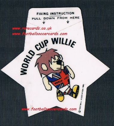 1965 F.A. official 1966 WC66 Willie mascot unused sticker star